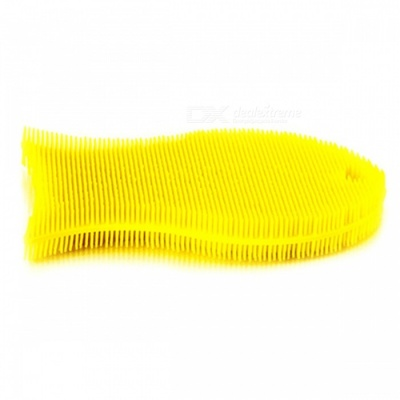 Portable Lightweight Cleaning Brush for Tableware Bowl Dish Washing - Yellow