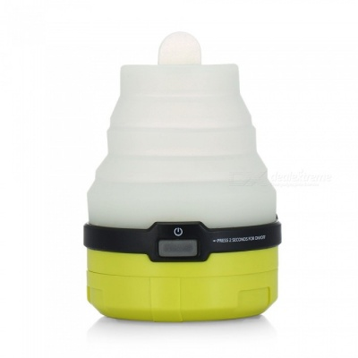 CTSmart DT-7212 Outdoor Camping Silicone Folding USB Charging Retractable LED Colorful Tent Light - Yellow Green