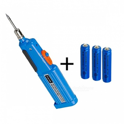 ZHAOYAO Mini Portable KBI-645 Battery-Powered 6W 4.5V Soldering Iron Repair Tool + 3 Batteries