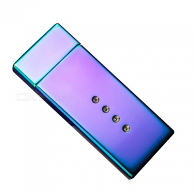 HONEST USB Rechargeable Windproof Coil Slim Lighter with USB Charging Cable and Gift Box - Colorful