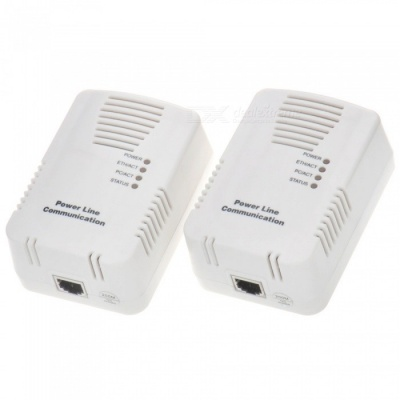 PLC-200M Mini 200Mbps Wireless Wi-Fi Extender with Power Cables - White (2 PCS)