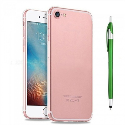 SZKINSTON Shockproof TPU Back Case With Green Ballpoint Capacitive Pen for IPHONE 7 / 8