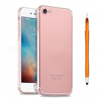 SZKINSTON Shockproof TPU Back Case With Gold Ballpoint Capacitive Pen for IPHONE 7 / 8