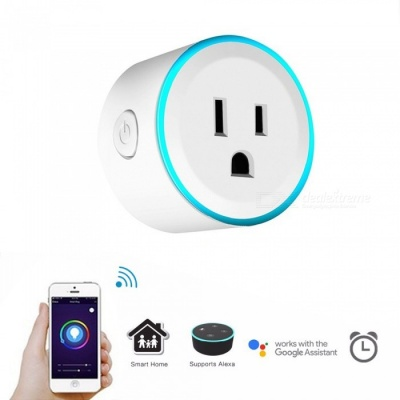 JIAWEN Scene Light Timing Remote Control Wi-Fi Smart Socket - US Plug / AC 100-240V