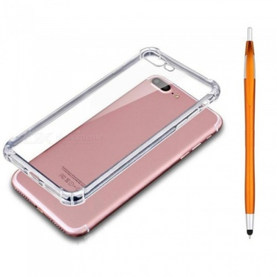 SZKINSTON Shockproof TPU Back Case With Gold Ballpoint Capacitive Pen for IPHONE 7 / 8 Plus
