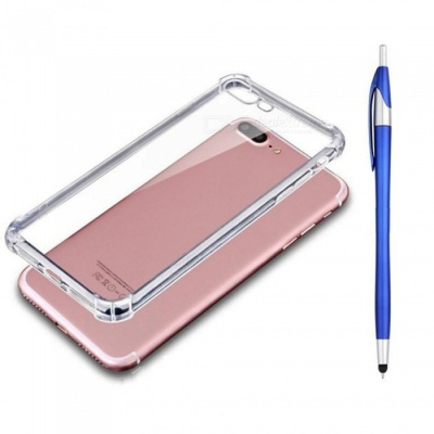 SZKINSTON Shockproof TPU Back Case With Blue Ballpoint Capacitive Pen for IPHONE 7 / 8 Plus
