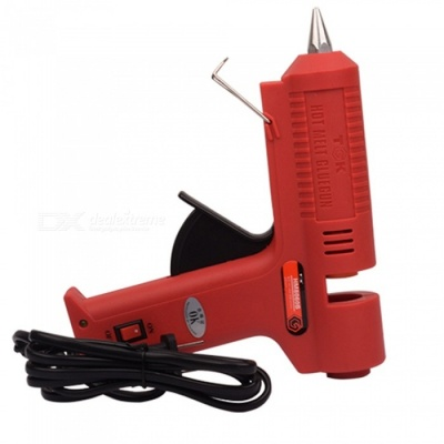 OJADE 60W 220 Degree Hot Melt Glue Gun with ISDN, Fits 11mm Rod - Red