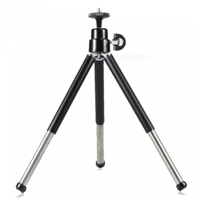 OJADE 360 Degree Rotation Folding Stand Tripod for Cell Phones - Black
