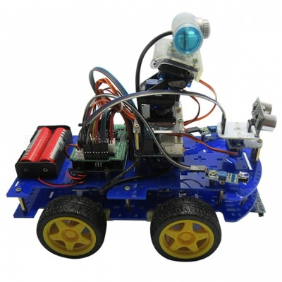 Arduino Programmable Smart Robot Car with Wi-FI, Bluetooth Tracking, Ultrasonic Obstacle-avoiding