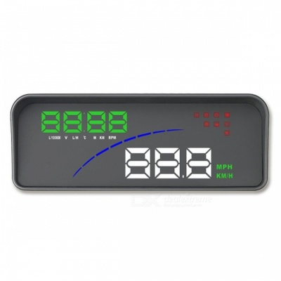 P9 Universal Car GPS HUD Digital Head Up Display with Speed Projector Function - Black