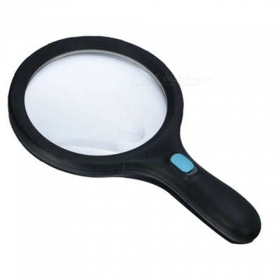 OJADE 1.8X 5X Handheld Magnifying Glass with 12 LED Lights for Reading Magnifier Loupe