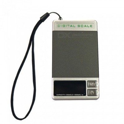 "DS-28 Super Mini 100g/0.01g - 500g/0.1g Dual Range 1.3"" Electronic Jewelry Scale - Grey + Silver (1 x AAA)"