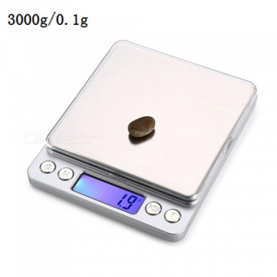 "MH-808 3000g / 0.1g 1.7"" Precision Electronic Gold Jewelry Kitchen Scale (2 x AAA)"