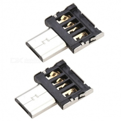 Kitbon Micro USB 5Pin to USB 2.0 OTG Adapter Converters (2 PCS)