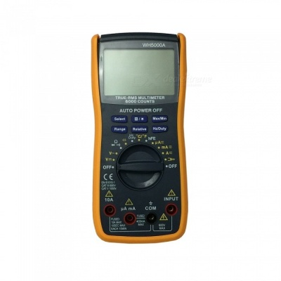 Ismartdigi WH5000A LCD Handheld Digital Multimeter Using for Home and Car - Black + Yellow