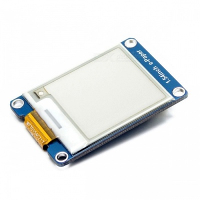 Waveshare 152x152 1.54 Inches E-Ink Display Module with Yellow / Black / White Three-Color, SPI Interface