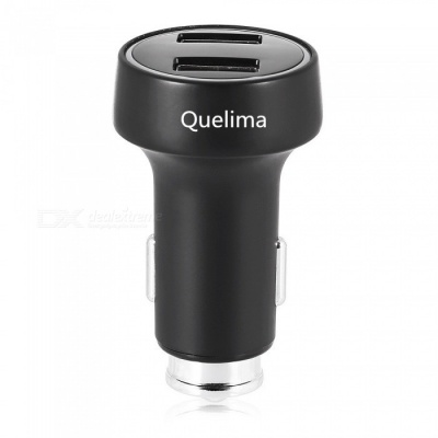 Quelima Dual USB  Smart Car Charger with LED Indicator Light