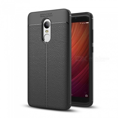 Dayspirit Lichee Pattern TPU Case for Xiaomi Redmi Note 4 - Black