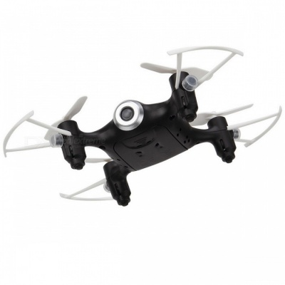 SYMA X21 RC Quacopter Helicopter Drone Aircraft Toy w/ Headless Mode, Hover, Fixed High Function for Boy Gift - Black