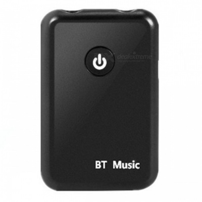 Bluetooth Audio Receiver Transmitter Two in One Bluetooth Adapter Transmitter - Black