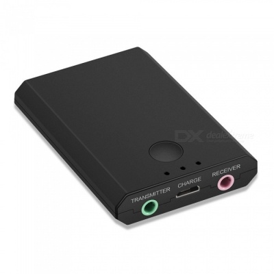 Two in One Bluetooth V3.0 Music Receiver Transmitter - Black