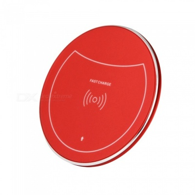 F10 10W Qi Fast Charge Wireless Charger for IPHONE 8 / X, Samsung Galaxy S7 / S8 / S6 Edge Plus and More - Red