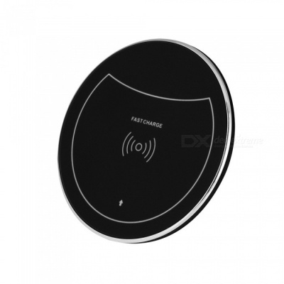 F10 10W Qi Fast Charge Wireless Charger for IPHONE 8 / X, Samsung Galaxy S7 / S8 / S6 Edge Plus and More - Black