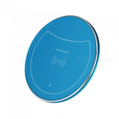 F10 10W Qi Fast Charge Wireless Charger for IPHONE 8 / X, Samsung Galaxy S7 / S8 / S6 Edge Plus and More - Blue