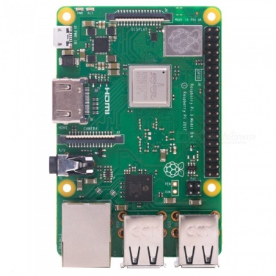 Raspberry Pi 3 Model B+ Mother Board with BCM2837B0 Cortex-A53 (ARMv8) 1.4GHz CPU Dual-Band Wireless LAN w/ 1GB RAM