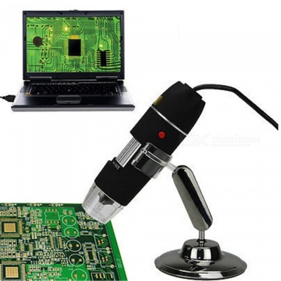8-LED 500X 2.0MP USB Digital Microscope Endoscope Magnifier