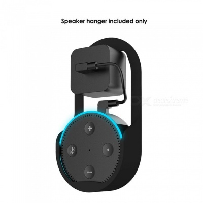 Measy Outlet Wall Mount Hanger Stand Holder Bracket for All-New Echo Dot 2nd Generation Speaker - Black