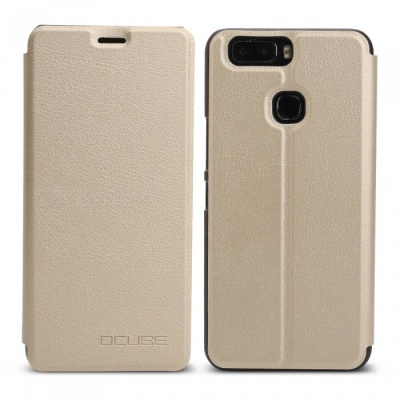 OCUBE Protective Flip-open PU Leather Case for Leagoo S8 Pro 5.99 Inches - Golden