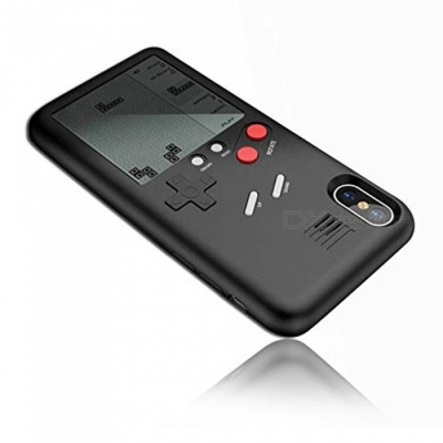 Ultra Slim Protective Phone Back Case 3D With Screen Tetris Games System For IPHONE X