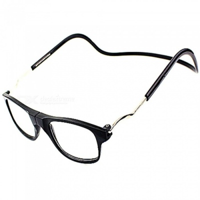Magnetic Adsorption Neck Hanging 2.5 Diopter Reading Glasses Presbyopic Glasses for the Elderly