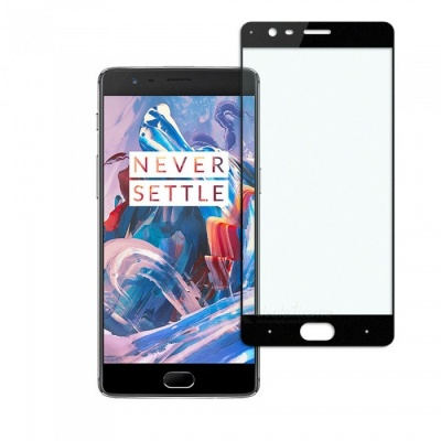 Dayspirit Tempered Glass Screen Protector for OnePlus 3, 1+3 - Black