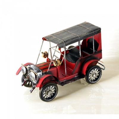 ZHAOYAO Vintage and Nostalgic Iron Metal Car Model Decoration - Red