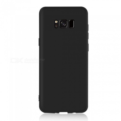 Dayspirit Protective Matte Frosted TPU Back Case for Samsung Galaxy S8 - Black