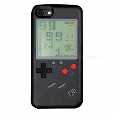 Retro Style Tetris Game Console Phone Shell Case, Back Cover for Apple IPHONE 6 PLUS, 6S PLUS - Black