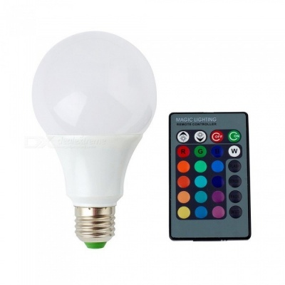 ZHAOYAO A70 Dimmable E27 7W AC 85-265V LED Light Bulb RGB + White 16 Colors with Remote Controller