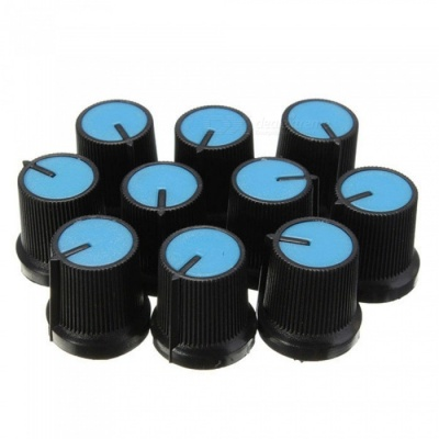 ZHAOYAO 10Pcs Plastic Rotary Taper Potentiometer Knob with 6mm Hole