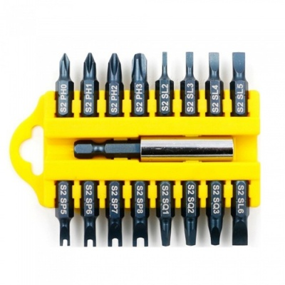 HakkaDeal 17Pcs Security Tamper Proof Torx Hex Bits Kit