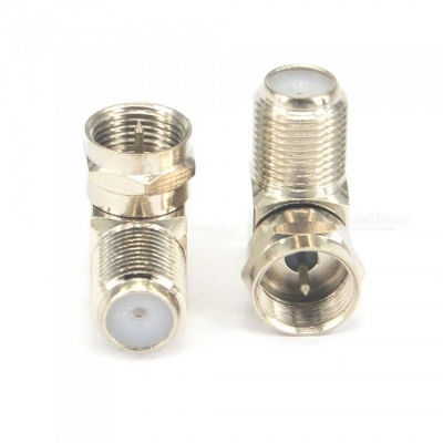 ZHAOYAO F Type Right Angle Male to Female RF Connectors 90 Degree Coax Adapters 2PCS