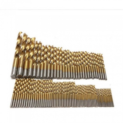 ZHAOYAO 99Pcs 1.5-10mm Twist Drill Bits Titanium Straight Shank Woodworking Electric Drill Accessories Milling Cutter for Wood