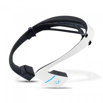 ZHAOYAO LF-18 Wireless Bluetooth Waterproof Stereo Neck-strap Headphone, Bone Conduction NFC Hands-free White