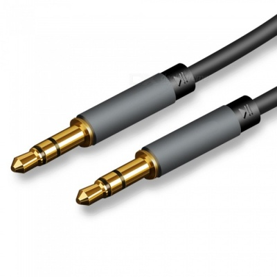 Car Audio Phone Connection 3.5mm Male to Male Aux Audio Cable - 1 Meter (Black)