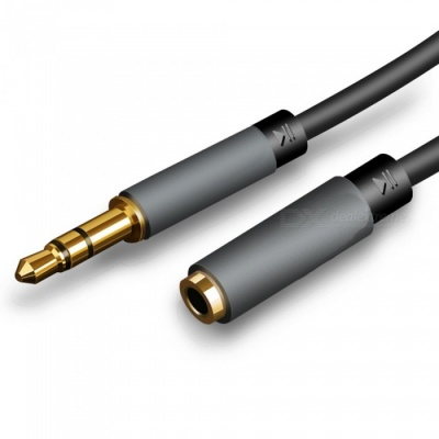 Audio Extension Cable 3.5mm Male to Female Mobile Computer Headset Extension Cable - 2 Meters (Black)