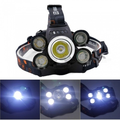 ZHAOYAO CREE XM-L T6 *4 + CREE Q5 LED 3000LM 4-Mode Headlight for Camping, Traveling, Hiking