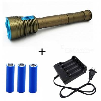 ZHAOYAO High Power 9-LED L2 Outdoor Long-Range Diving LED Flashlight w/ Magnetic Control Switch