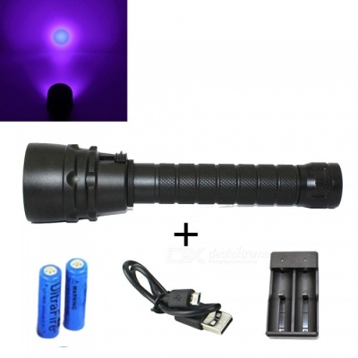 ZHAOYAO 5-LED Purple Light UV Money Detector Torch, Diving Flashlight w/ Magnetic Switch