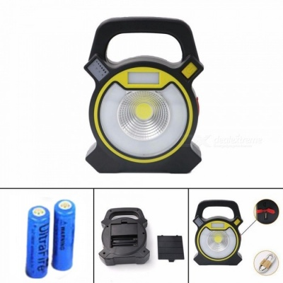 ZHAOYAO Portable Glare LED Flashlight Lantern Outdoor Travel Safety 4 Mode Hand Lamp Torch with Battery for Camping Fishing BBQ